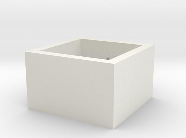 squareRing_16.5mmx12mm in White Natural Versatile Plastic