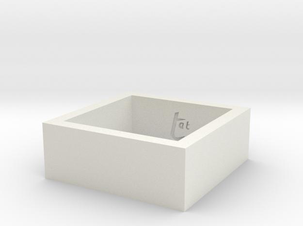 squareRing_17.5mmx8mm in White Natural Versatile Plastic