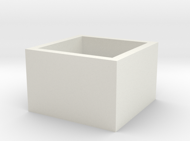squareRing_19mmx15mm in White Natural Versatile Plastic