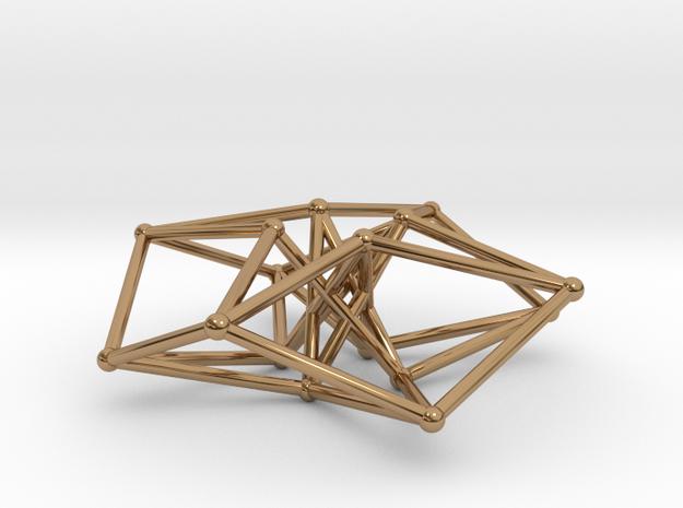 Sacred Geometry: Toroidal Hypercube 50mmx1.5mm  3d printed