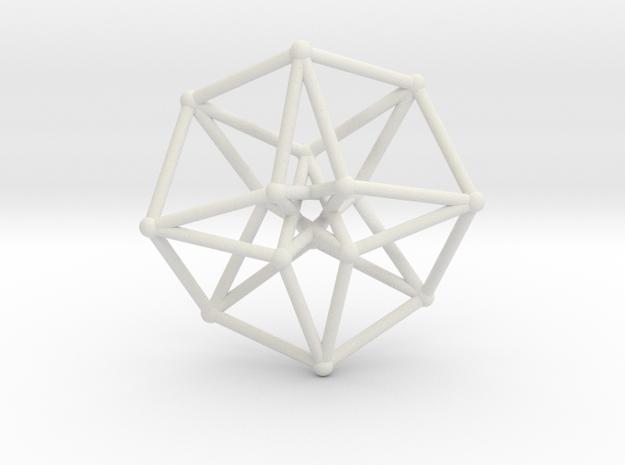 Toroidal Hypercube 50mm 2mm Time Traveller in White Natural Versatile Plastic
