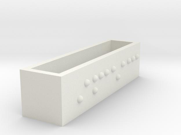 Rectangle Pendant LOVE 10x10x39 in White Natural Versatile Plastic