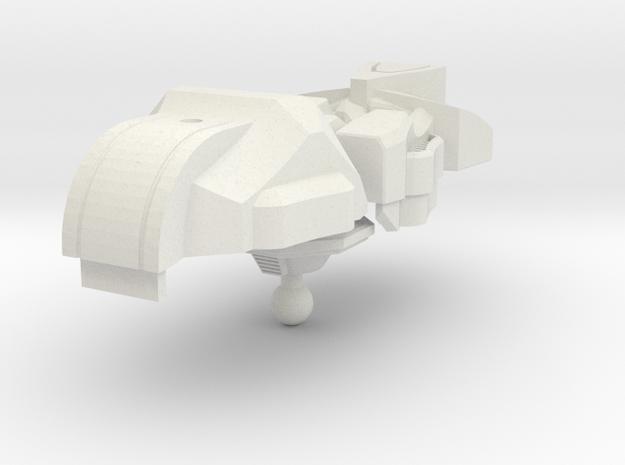 Animated Menasor head in White Natural Versatile Plastic