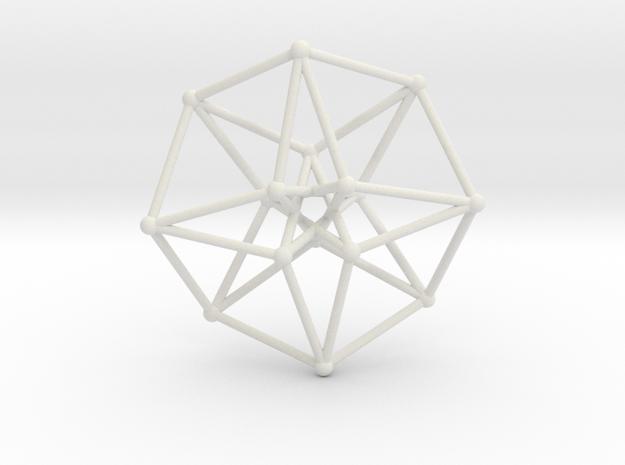 Toroidal Hypercube 100mm 3mm Time Traveller in White Natural Versatile Plastic