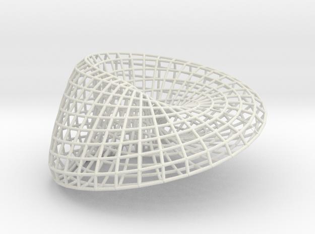 Moebius + Ellipse 18 | bracelet | L in White Natural Versatile Plastic