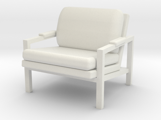 1:24 Metal Frame Chair in White Natural Versatile Plastic