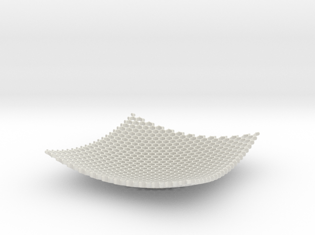 Large Honeycomb Fruit Bowl Key tidy in White Strong & Flexible
