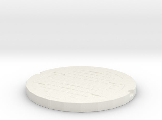 manhole cover in White Natural Versatile Plastic