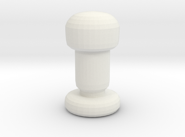Chess Piece- Pawn in White Natural Versatile Plastic