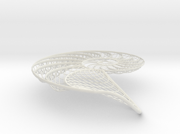 Nautilus Shell Structure in White Natural Versatile Plastic