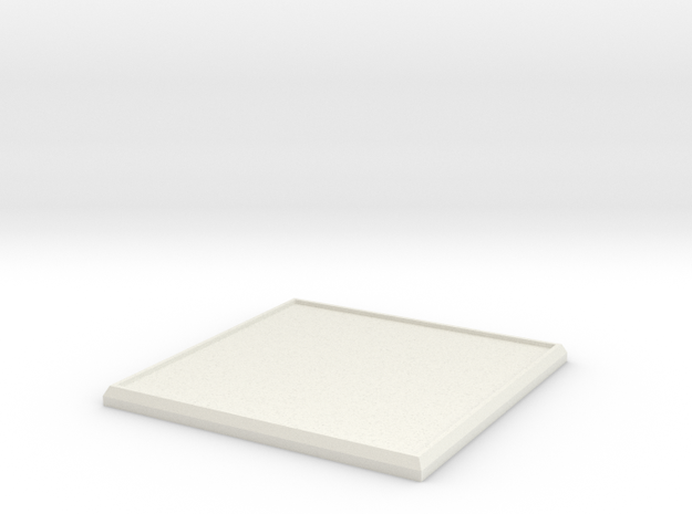 Square Model Base 55mm in White Natural Versatile Plastic