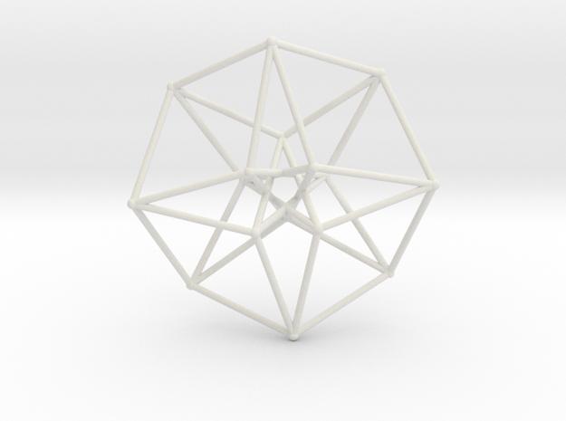 Sacred Geometry: Toroidal Hypercube 40mmx1mm in White Natural Versatile Plastic