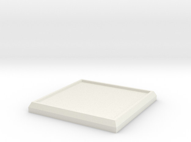 Square Model Base 30mm in White Natural Versatile Plastic