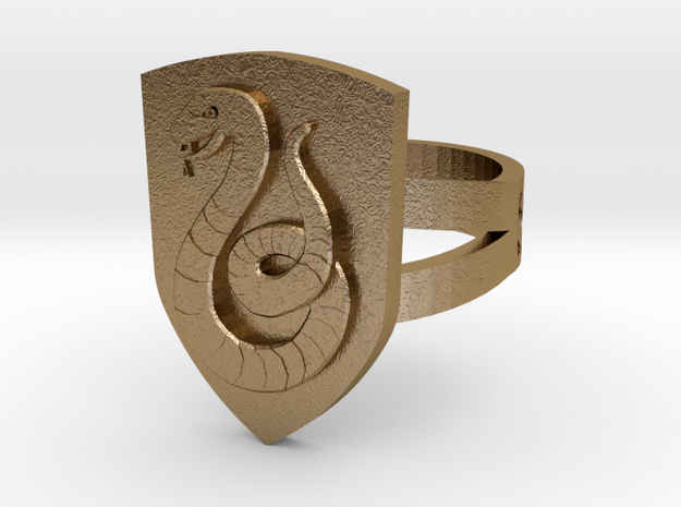 Slytherin Ring Size 4 3d printed