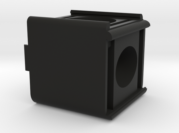 SplittingCube Cutout in Black Natural Versatile Plastic