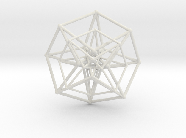 Hypercube Double Over 50mm in White Strong & Flexible