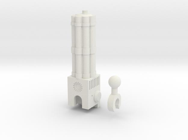 Sunlink - 3mm: Chaingun in White Natural Versatile Plastic