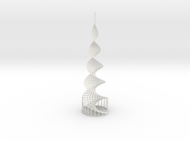 Helix Tower in White Natural Versatile Plastic