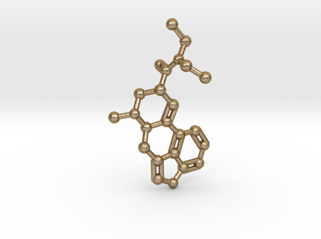 LSD Molecule Necklace Keychain 3d printed