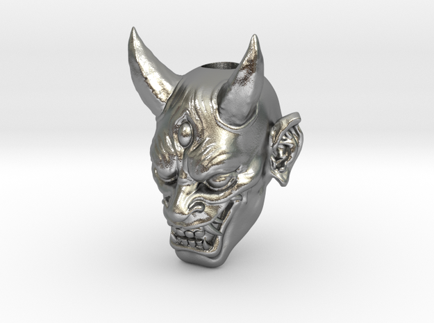 Japanese Hannya Demon Bead - Coming Soon in Raw Silver
