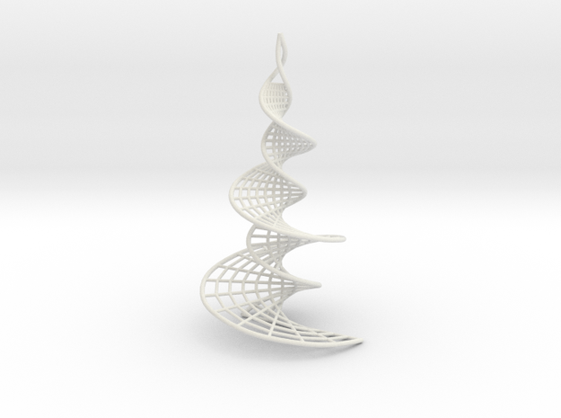 Helicoidal Earrings with Spirals in White Strong & Flexible
