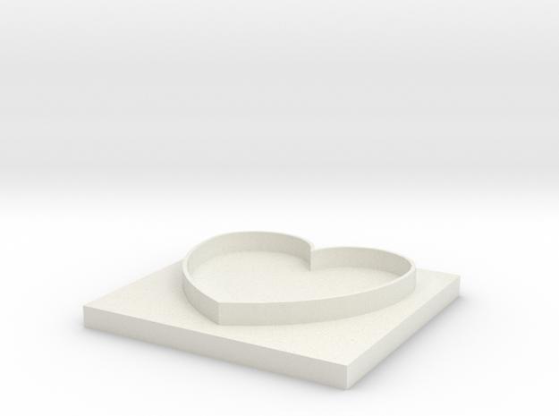 Heart Design-2 in White Strong & Flexible