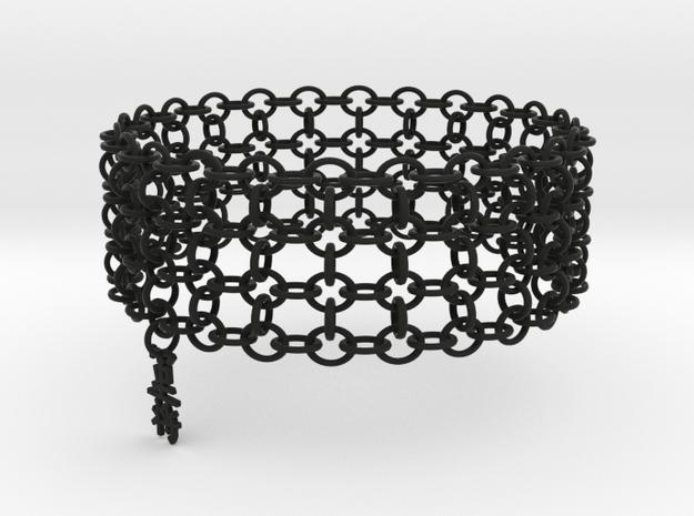 3in Shogun Kanji Bracelet in Black Strong & Flexible