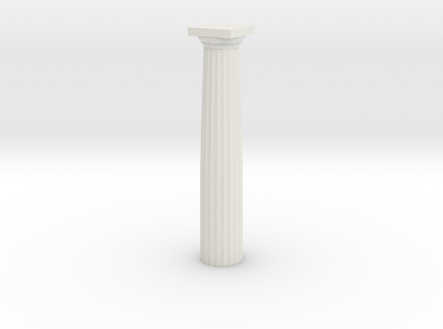 Parthenon Column (Hollow) 1:100 in White Natural Versatile Plastic