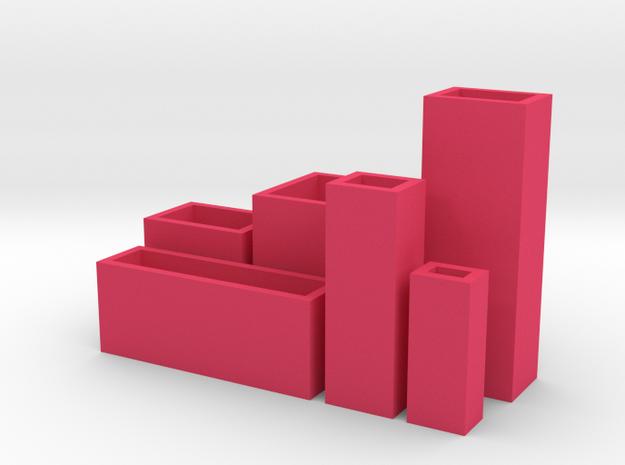 Cityscape 6-piece set of dollhouse vases 3d printed