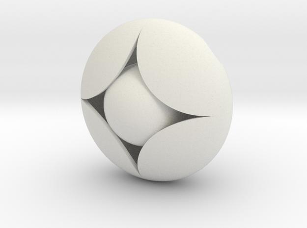 Ellipse Flower Pendant #2 @ 30 mm in White Natural Versatile Plastic