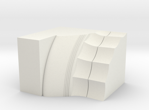 Parthenon Column Capital Slice (Hollow) 1:50 in White Natural Versatile Plastic