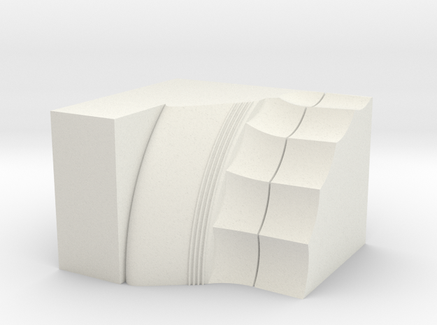 Parthenon Column Capital Slice 1:50 in White Natural Versatile Plastic