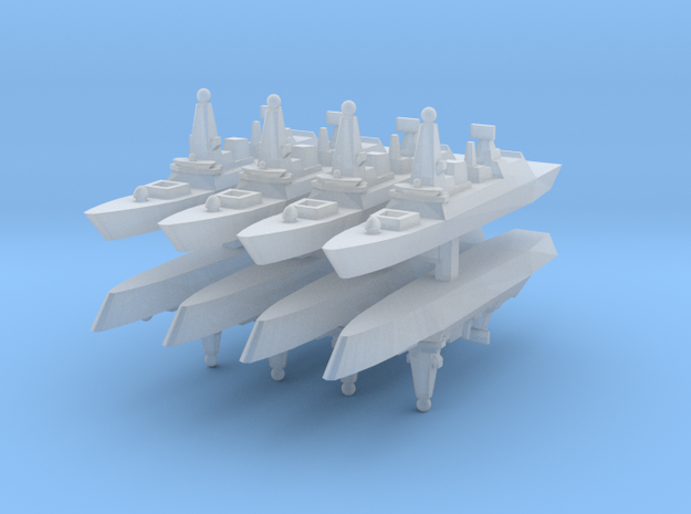 UK Type 45 1:6000 x8 in Smooth Fine Detail Plastic