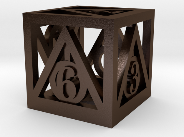 Deathly Hallows d6 3d printed