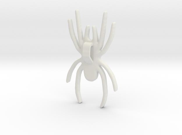 Spider Pendant 5cms in White Natural Versatile Plastic