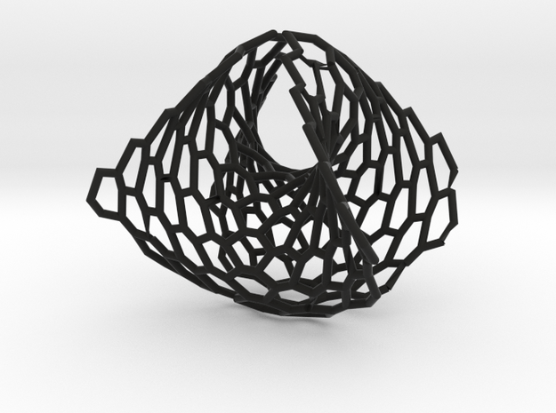 Wearables | ring | concave convex hexagon | size K 3d printed