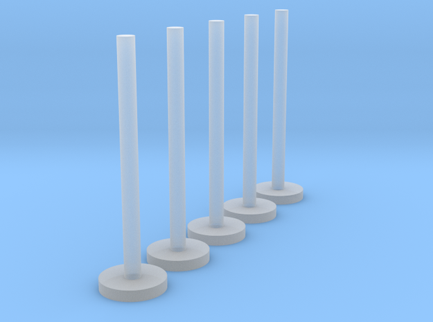 US103 - Wall Flagpole set (H0) in Frosted Ultra Detail