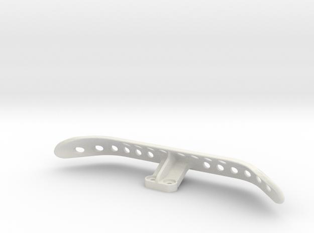F1 Rear Practice Bumper in White Natural Versatile Plastic