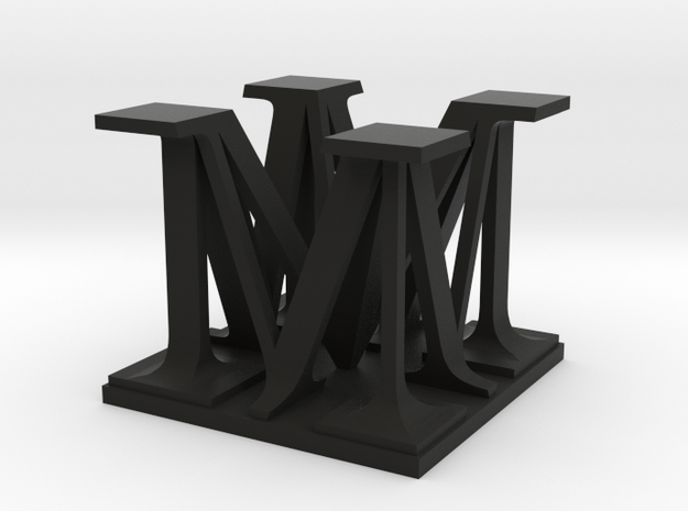 Two way letter / initial M&M 3d printed