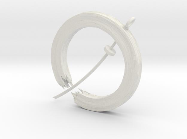 Soul In Flight Pendant in White Natural Versatile Plastic
