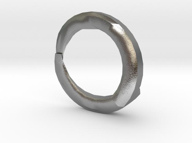 Lightning bolt Ring in Natural Silver