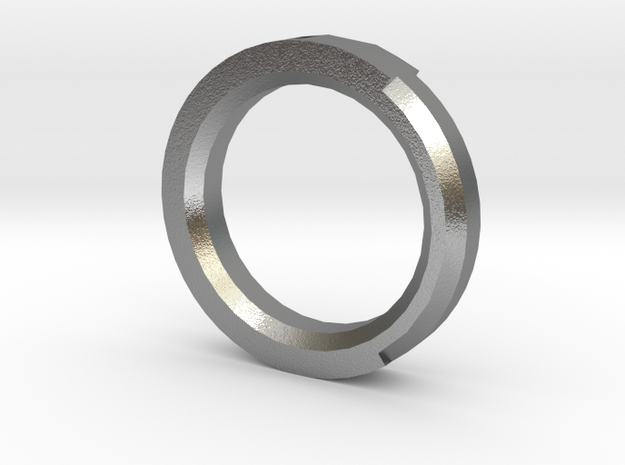 Plain Ring in Natural Silver