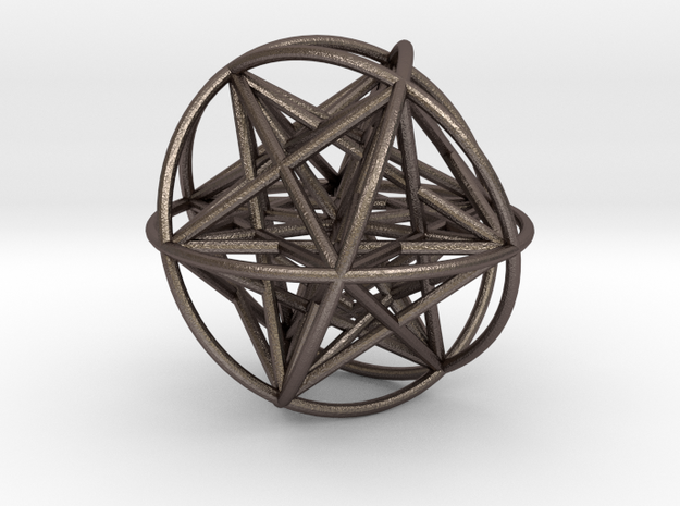 Metatrons Cubeoctahedral Sphere Connections 80mm 3d printed