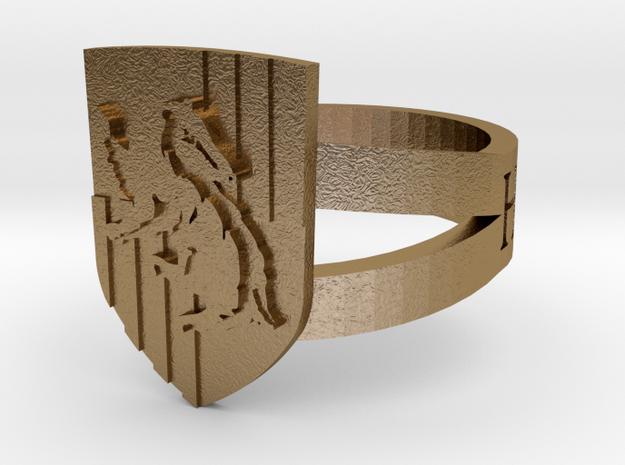Hufflepuff Ring Size 12 3d printed