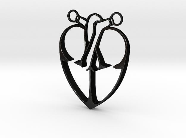 Storybook-Organic Heart Pendant 3d printed