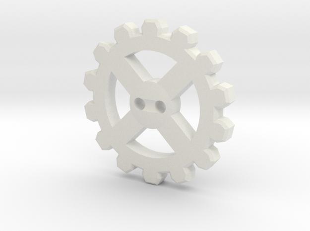 Cogwheel Button 02 3d printed