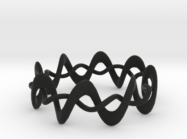 DMT Wrap Ring in Black Strong & Flexible