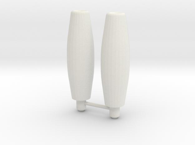 Galvatron barrels in White Natural Versatile Plastic