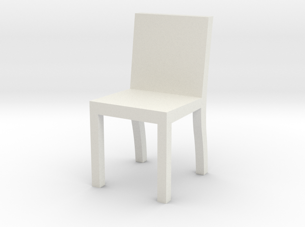 1:48 chair2 in White Natural Versatile Plastic
