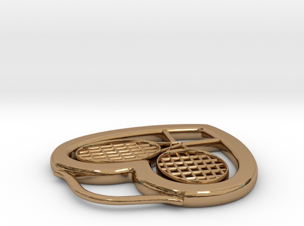 Heart And Tennis Rackets 3d printed